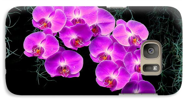 Galaxy Case featuring the photograph Dew-kissed Orchids by Sue Melvin