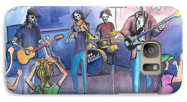 Galaxy Case featuring the painting Dewey Paul Band by David Sockrider