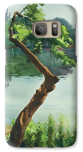 Galaxy Case featuring the painting Dhanmondi Lake 03 by Helal Uddin