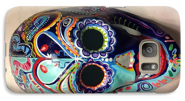 Galaxy Case featuring the painting Colorful Life Mask Adode Homes Auction by Patti Schermerhorn