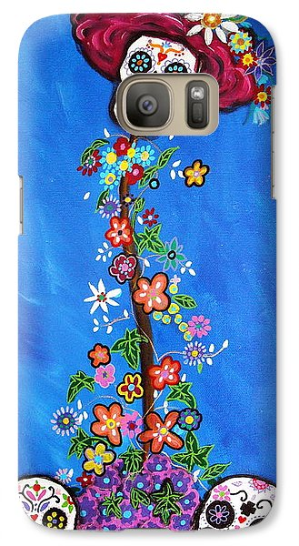 Galaxy Case featuring the painting Dia De Los Muertos by Pristine Cartera Turkus