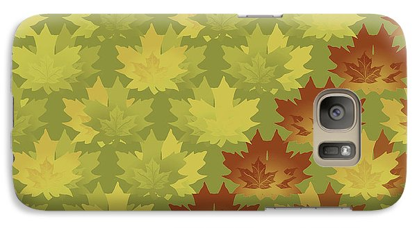 Galaxy Case featuring the digital art Diagonal Leaf Pattern by Methune Hively