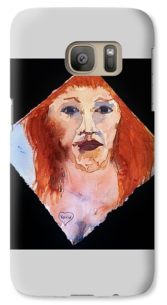 Galaxy Case featuring the painting Diamond Girl by Rand Swift