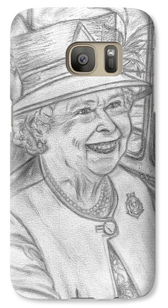 Galaxy Case featuring the drawing Diamond Jubilee by Teresa White