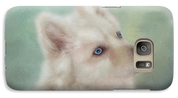 Galaxy Case featuring the mixed media Diamond, The White Shepherd by Colleen Taylor