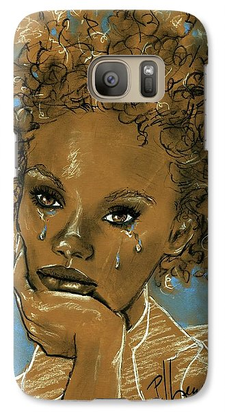 Galaxy Case featuring the drawing Diamond's Daughter by P J Lewis