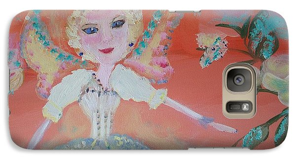 Galaxy Case featuring the painting Diana Healing Fairy by Judith Desrosiers
