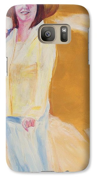 Galaxy Case featuring the painting Diane by Eric  Schiabor