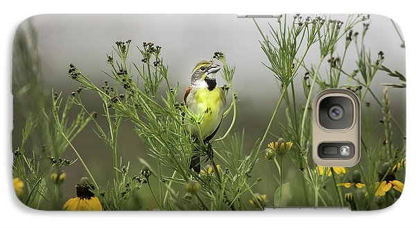 Galaxy Case featuring the photograph Dickcissel With Mexican Hat by Robert Frederick