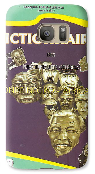 Galaxy Case featuring the painting Dictionary Of Negroafrican Celebrities 1 by Emmanuel Baliyanga