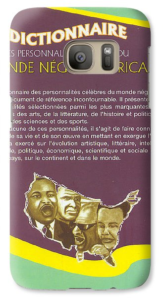Galaxy Case featuring the painting Dictionary Of Negroafrican Celebrities 2 by Emmanuel Baliyanga
