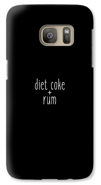 Diet Coke And Rum Galaxy S7 Case by Cortney Herron