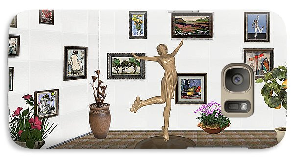 Galaxy Case featuring the mixed media digital exhibition _ A sculpture of a dancing girl 11 by Pemaro