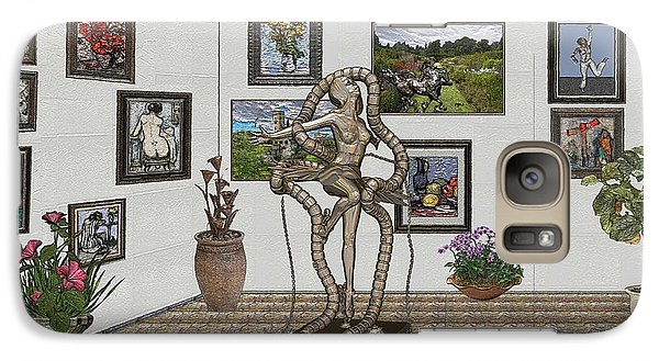 Galaxy Case featuring the mixed media Digital Exhibition _ Modern  Statue 1   Of Dancing Girl by Pemaro