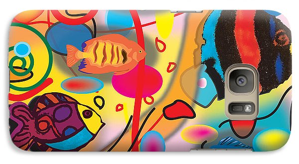 Galaxy Case featuring the digital art Digital Fish by Christine Perry