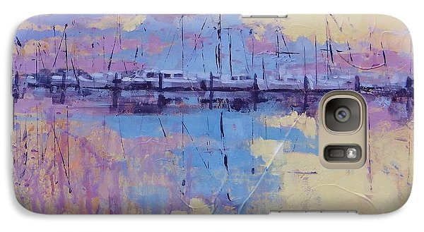 Galaxy Case featuring the painting Dimensions  by Laura Lee Zanghetti