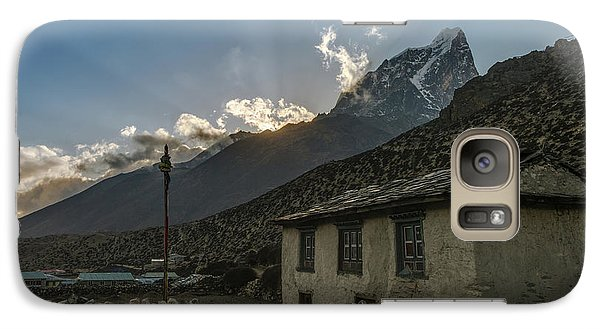 Galaxy Case featuring the photograph Dingboche Nepal Sunrays by Mike Reid