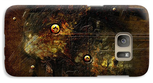 Galaxy Case featuring the digital art Dingy by Alexa Szlavics