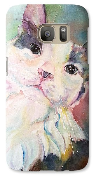 Galaxy Case featuring the painting Dinky by Christy Freeman