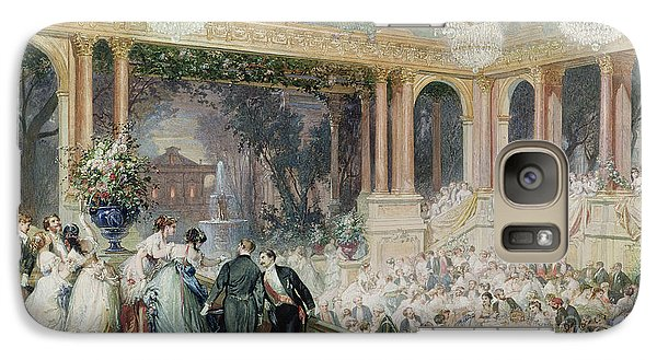 Dinner At The Tuileries Galaxy Case by Henri Baron