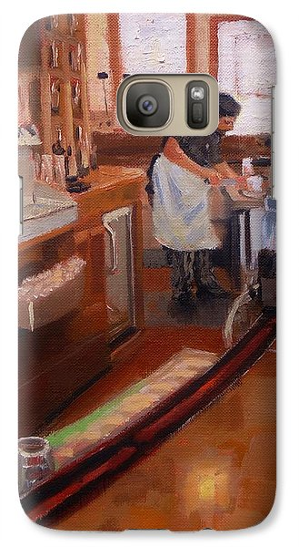 Galaxy Case featuring the painting Dinner On The Cape by Laura Lee Zanghetti