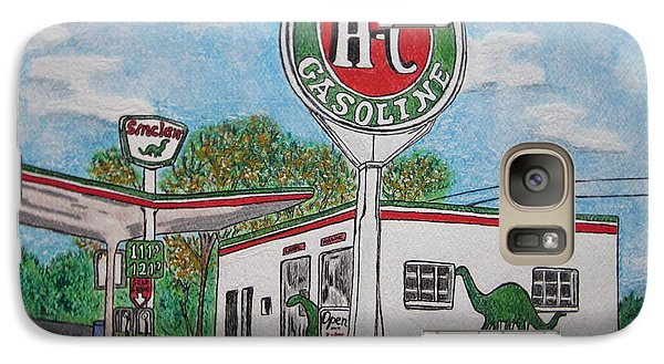 Galaxy Case featuring the painting Dino Sinclair Gas Station by Kathy Marrs Chandler