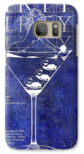 Dirty Dirty Martini Patent Blue Galaxy S7 Case by Jon Neidert
