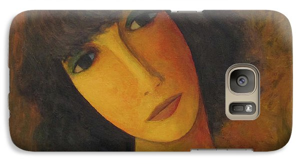 Galaxy Case featuring the painting Disbelieving by Glenn Quist