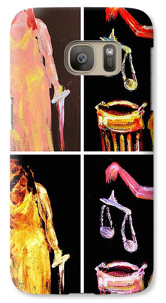Galaxy Case featuring the digital art Discard Of Justice by Mary Schiros