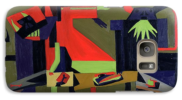 Galaxy Case featuring the painting Disfeastitia by Ryan Demaree