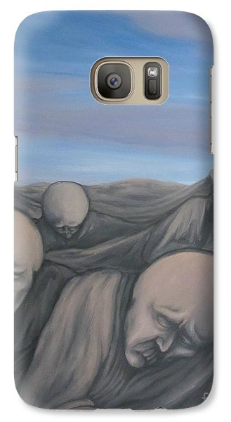 Galaxy Case featuring the painting Dismay by Michael  TMAD Finney