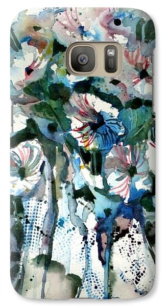 Galaxy Case featuring the painting Disney Petunias by Mindy Newman