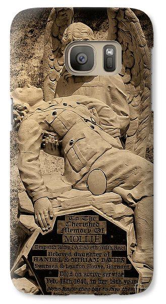 Galaxy Case featuring the photograph Dispatch Rider Memorial by Nigel Fletcher-Jones