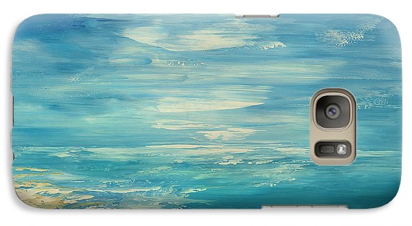Galaxy Case featuring the painting Distant Deluge by Tatiana Iliina