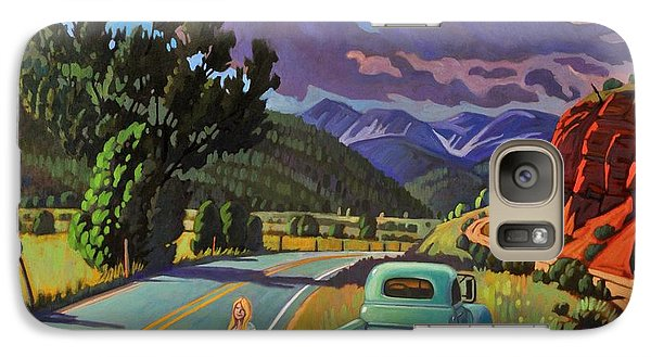 Galaxy Case featuring the painting Divergent Paths by Art West