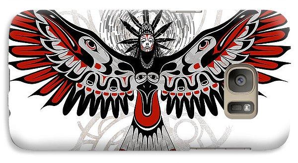 Raven Galaxy S7 Case - Divine Crow Woman by Sassan Filsoof