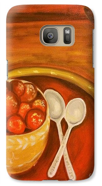 Galaxy Case featuring the painting Diwali Sweets by Brindha Naveen
