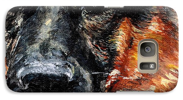Galaxy Case featuring the painting Dixie by Mary-Lee Sanders