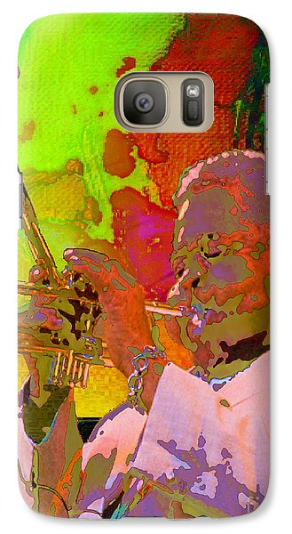 Galaxy Case featuring the painting Dizzy by Mojo Mendiola