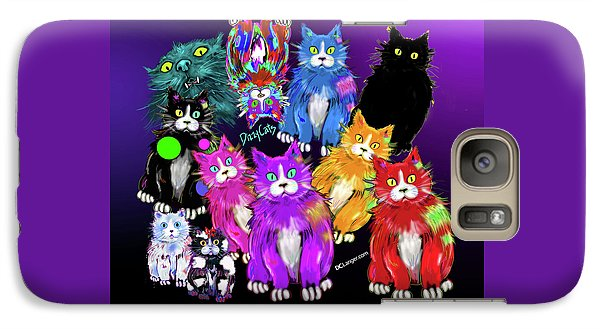 Galaxy Case featuring the painting Dizzycats by DC Langer