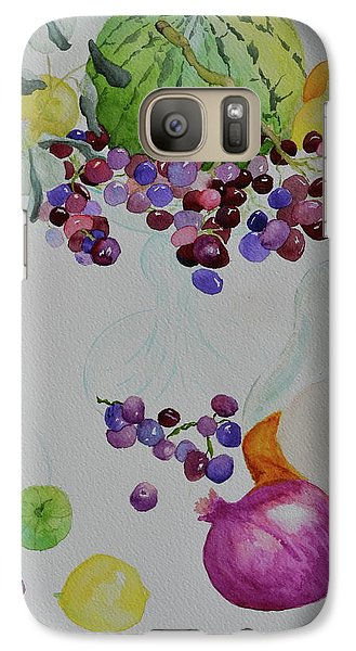 Galaxy Case featuring the painting Django's Grapes by Beverley Harper Tinsley