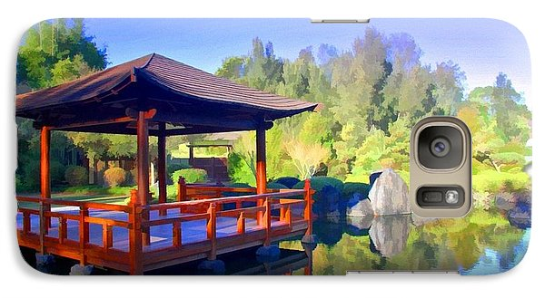 Galaxy Case featuring the photograph Do-00003 Shinden Style Pavilion by Digital Oil