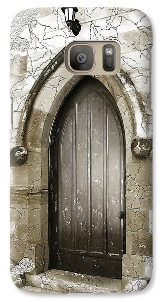 Galaxy Case featuring the photograph Do-00055 Chapels Door In Morpeth Village by Digital Oil