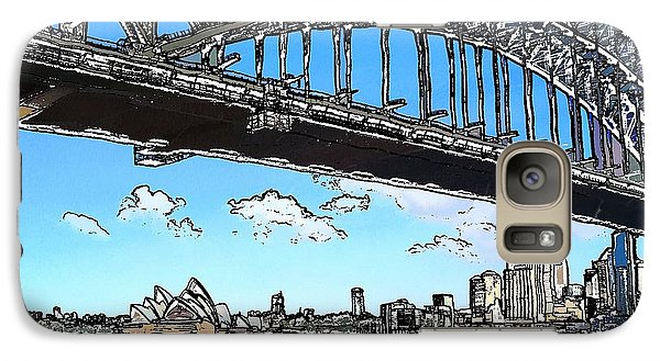 Galaxy Case featuring the photograph Do-00058 Sydney Harbour Bridge And Opera House by Digital Oil