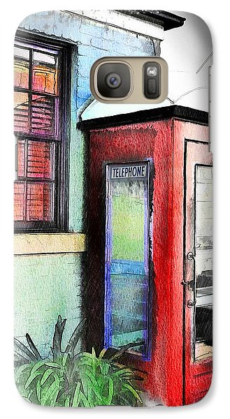 Galaxy Case featuring the photograph Do-00091 Telephone Booth In Morpeth by Digital Oil