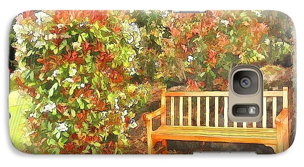 Galaxy Case featuring the photograph Do-00122 Inviting Bench by Digital Oil