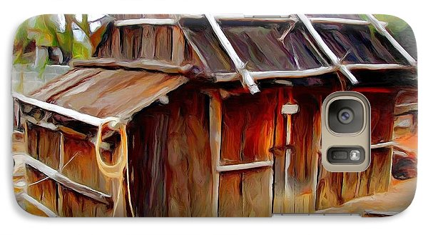 Galaxy Case featuring the photograph Do-00129 Old Cottage by Digital Oil