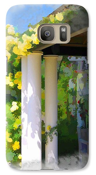 Galaxy Case featuring the photograph Do-00137 Yellow Roses by Digital Oil