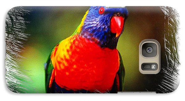 Galaxy Case featuring the photograph Do-00153 Colourful Lorikeet by Digital Oil