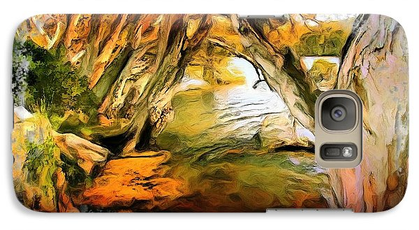 Galaxy Case featuring the photograph Do-00268 Trees On Water In Avoca Estuary by Digital Oil